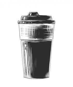 Schizzo disegnato a mano della tazza di caffè