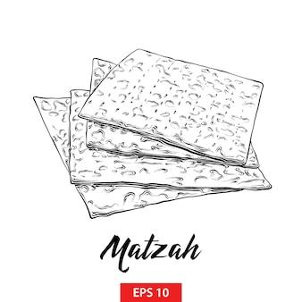 Schizzo disegnato a mano della pasqua ebraica matzah
