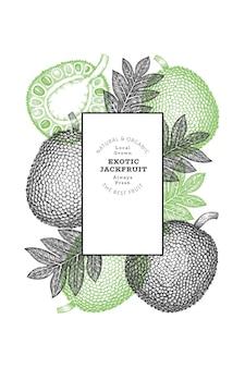Jackfruit stile schizzo disegnato a mano
