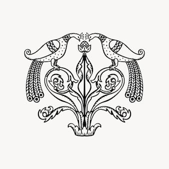 Ornamento slavo disegnato a mano