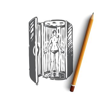 Illustrazione di solarium disegnato a mano