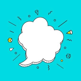 Icona di bolle di discorso disegnato a mano.