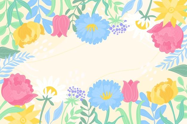 Sfondo primavera disegnata a mano con spazio vuoto