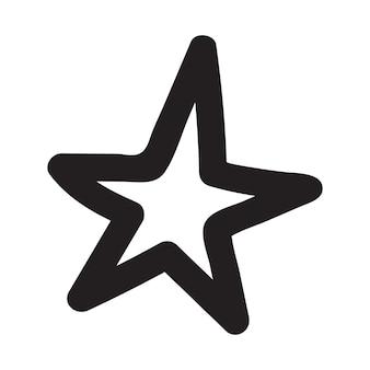 Stelle disegnate a mano. doodle illustrazioni vettoriali di stelle.