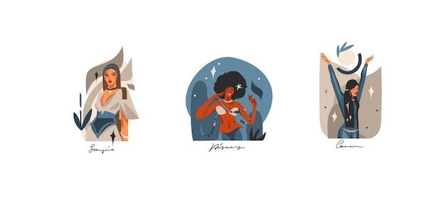 Illustrazioni grafiche astratte stock disegnate a mano