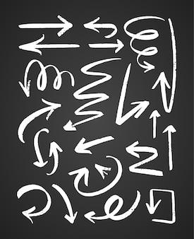 Frecce nere strutturate disegnate a mano