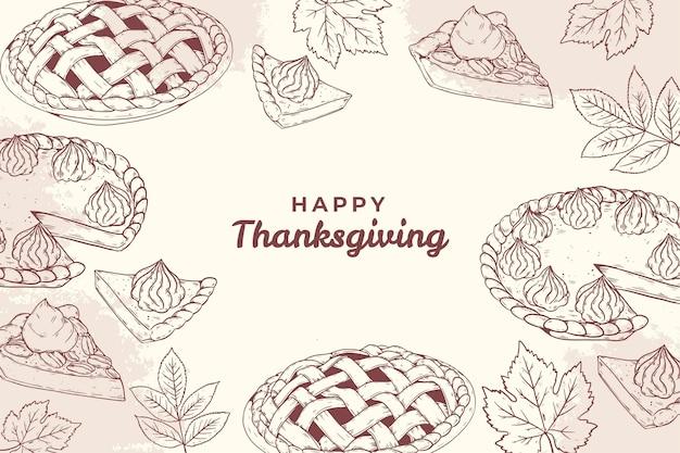 Sfondo di ringraziamento disegnato a mano