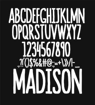 Set di caratteri tipografici disegnati a mano. caratteri dipinti a pennello. alfabeto tipografico per i tuoi disegni.
