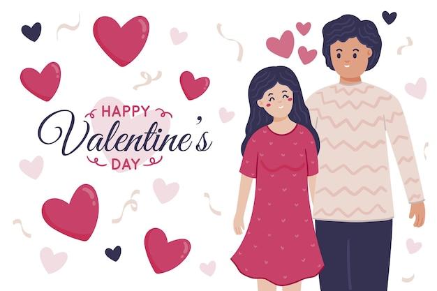 Fondo disegnato a mano di san valentino