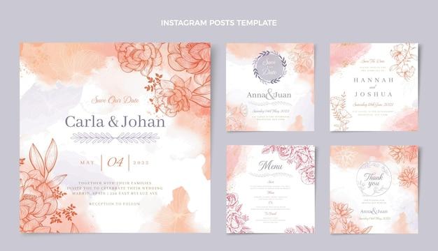 Post di instagram di nozze disegnati a mano