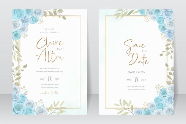 Disegno della carta di invito a nozze disegnato a mano