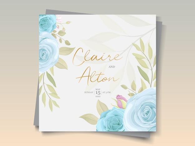 Modello di invito a nozze disegnato a mano con tema floreale