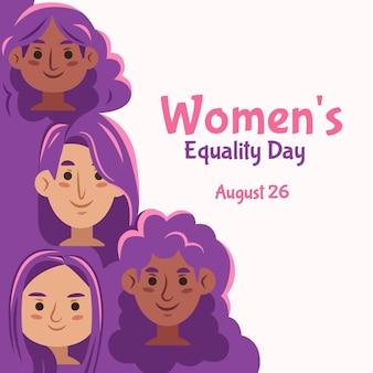 Illustrazione disegnata a mano del giorno dell'uguaglianza delle donne