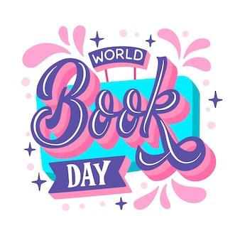 Illustrazione disegnata a mano della giornata mondiale del libro