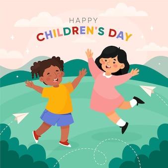 Illustrazione di giornata mondiale dei bambini disegnati a mano