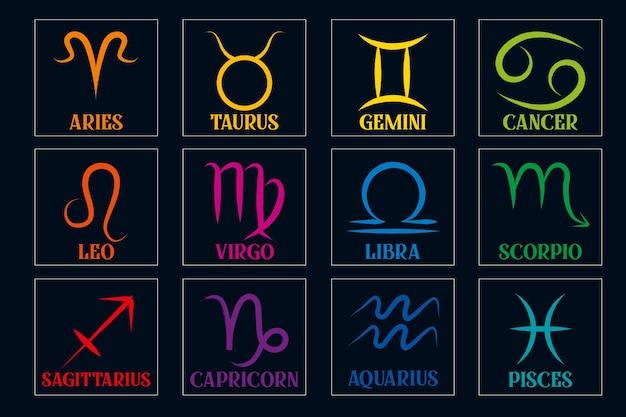 Illustrazione vettoriale di segno zodiacale disegnato a mano