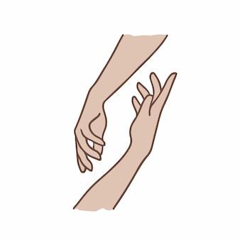 Simbolo del gesto della mano social media post vector illustration