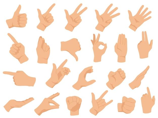 Gesti delle mani.