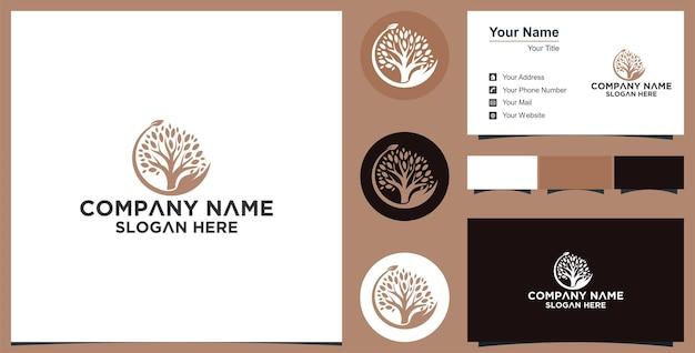 Concetto di mani e foglie cura naturale logo design premium