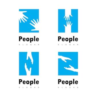 Vettore di logo della mano