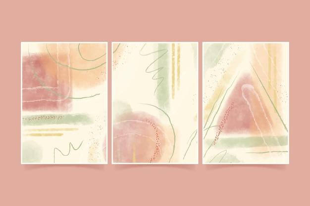 Collezione di copertine di arte astratta dipinte a mano