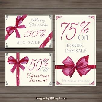Boxe dipinto carte di vendita al giorno a mano