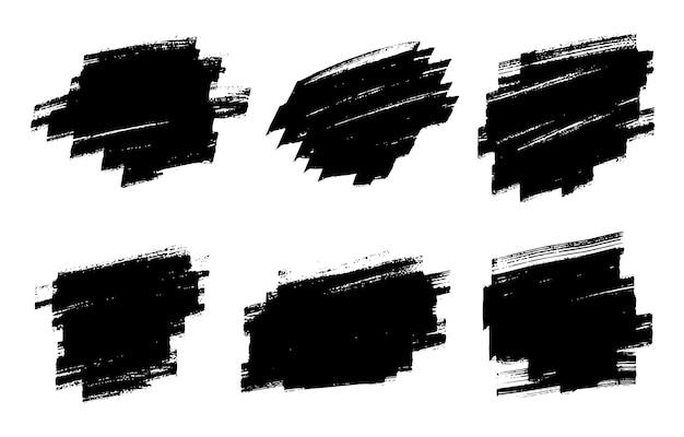 Set di pennellate dipinte a mano