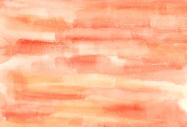 Dipinto a mano di fondo acquerello astratto miscela pesca e arancia