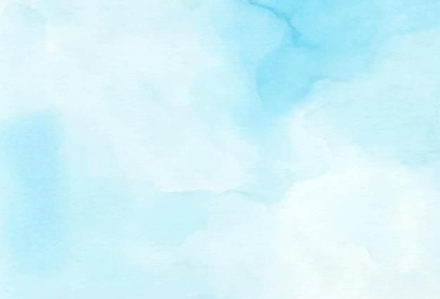 Cielo e nuvole dipinti a mano, fondo astratto blu di struttura dell'acquerello.