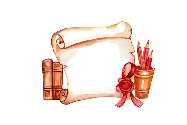 Classe dell'acquerello dipinto a mano dell'illustrazione 2021