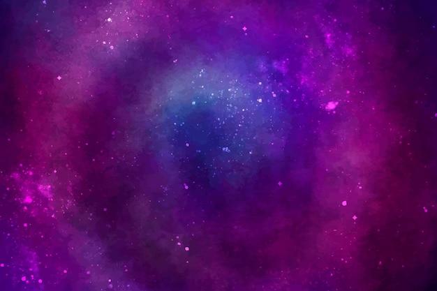 Sfondo galassia acquerello dipinto a mano