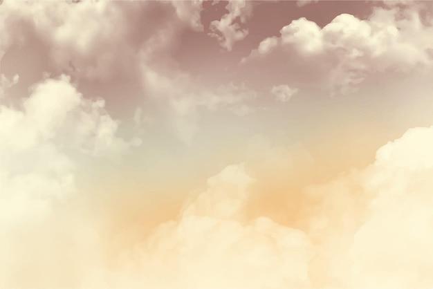 Fondo pastello della nuvola del cielo dell'acquerello dipinto a mano
