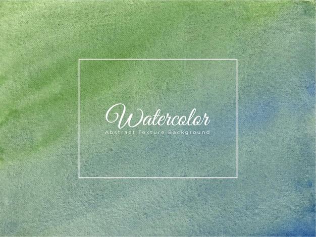 Priorità bassa di struttura dell'acquerello dipinto a mano in colore verde blu