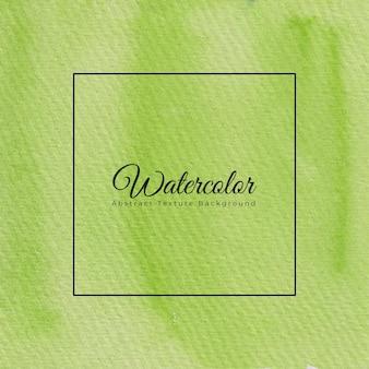 Priorità bassa di struttura dell'acquerello dipinto a mano in colore verde