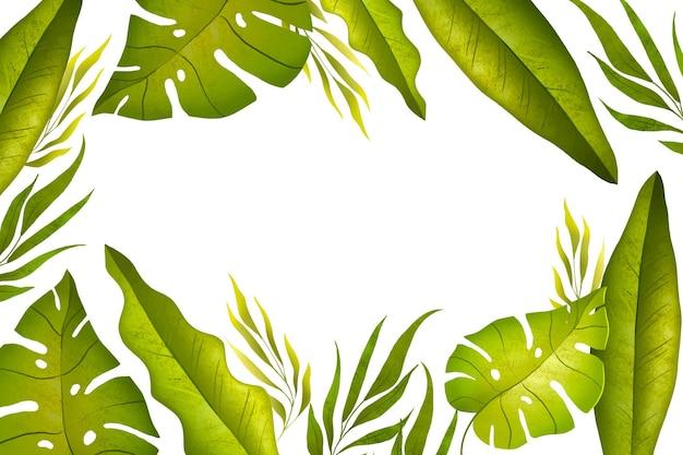 Fondo tropicale delle foglie dell'acquerello dipinto a mano