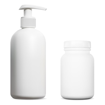 Flacone dosatore disinfettante per mani vasetto integratore vitaminico