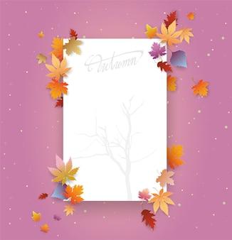 Scrittura a mano autunno testo boder
