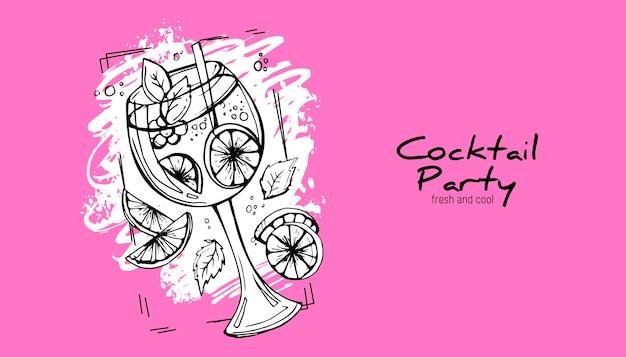 Cocktail disegnato a mano