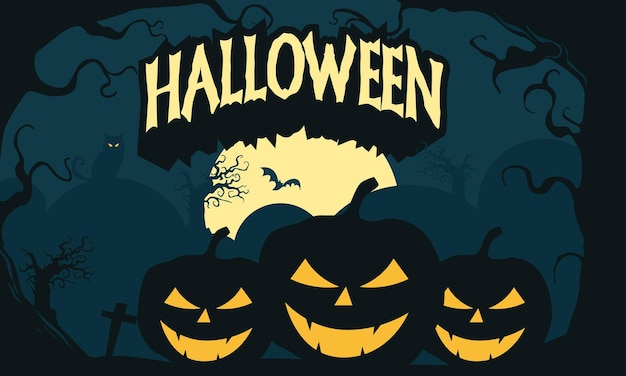 Sfondo scuro di carta da parati di halloween disegnata a mano