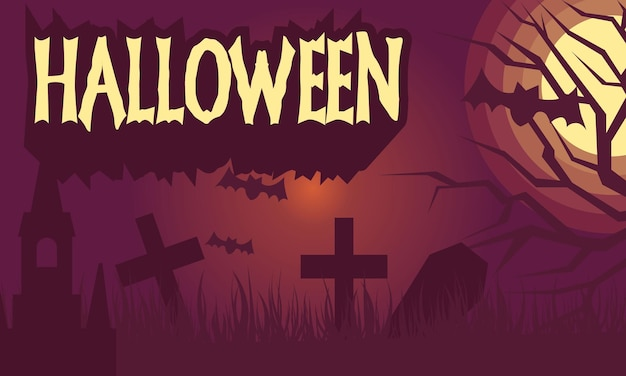 Carta da parati di halloween disegnata a mano