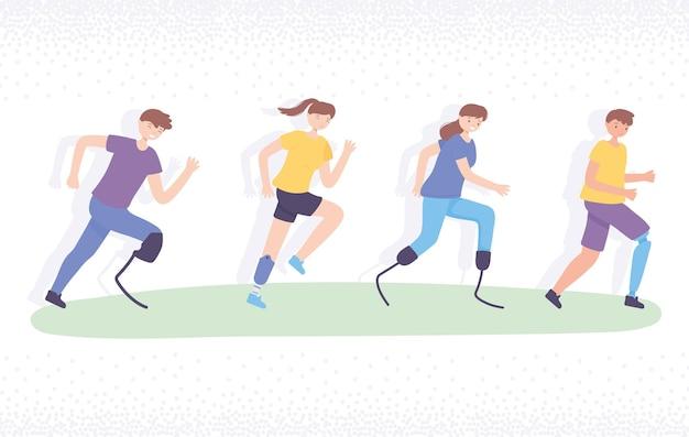 Esercizio sportivo per disabili