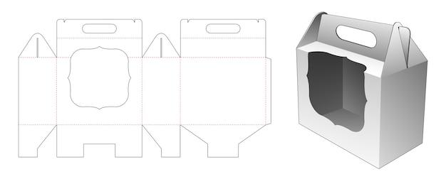 Gestire il cartone con il modello fustellato per finestre