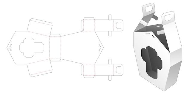 Maniglia scatola casa con modello fustellato finestra a forma di croce