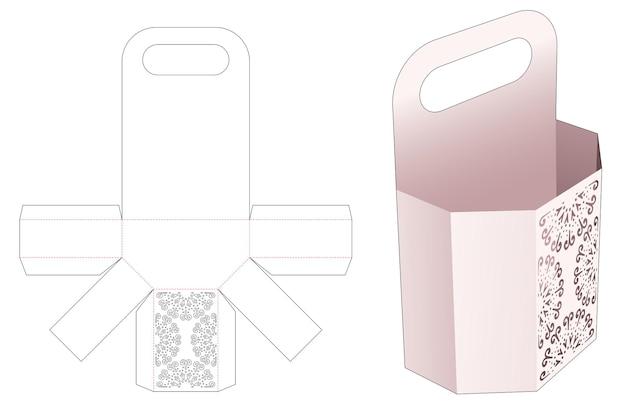 Gestire il contenitore degli snack con un modello fustellato di mandala stampato