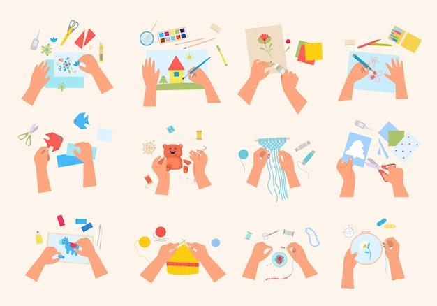 Set di artigianato creativo fatto a mano.