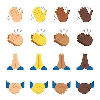 Vettore di segnali di dita di mani