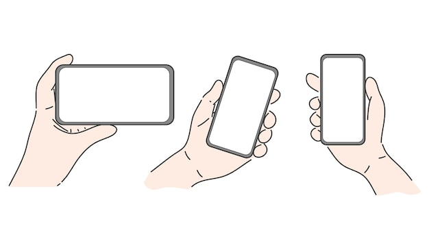 Mani che tengono smartphone