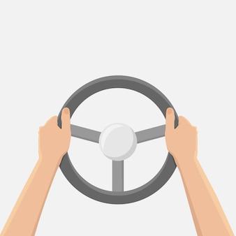 Mani che tengono il volante