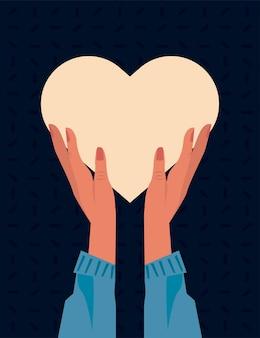 Mani che alzano il cuore