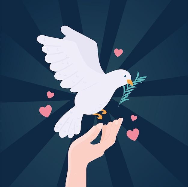 Mani con colomba giornata internazionale della pace